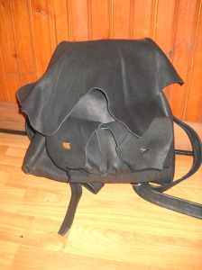Glove tan leather backpack. Originally made for a fundraiser .